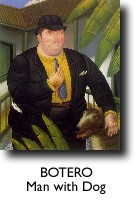 BOTERO, Man with Dog